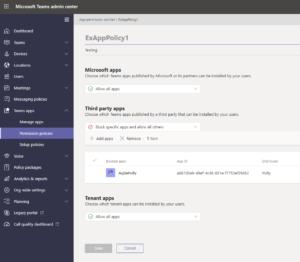 Manage Microsoft Teams app permission policy